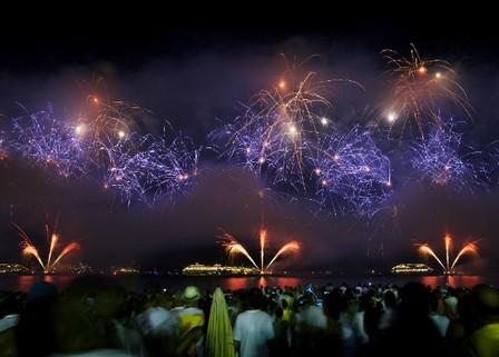 New Year celebration in Rio Copacabana